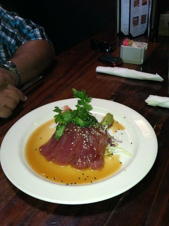 Custom House:                   Had some tuna shashimi to start, turned out to be a good decision.