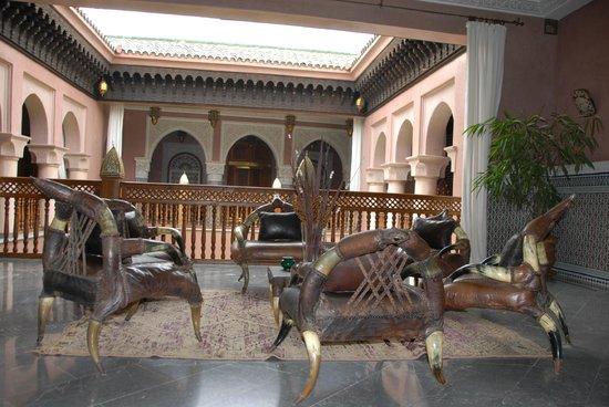 La Sultana Marrakech:                   sitting area on 2nd floor
