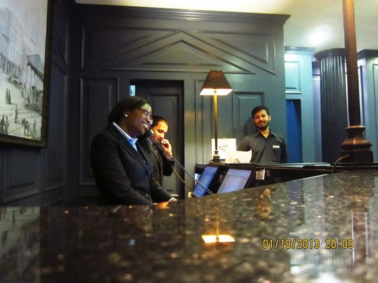 The Frederick Hotel:                   Evening reception staff working the phones