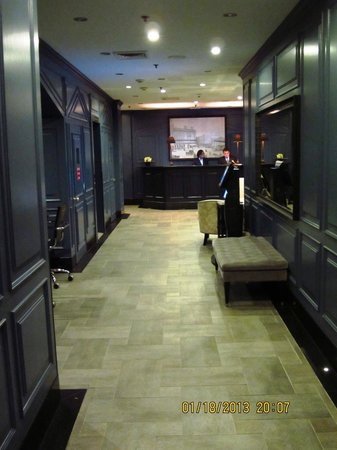 The Frederick Hotel:                   Entering lobby from Chambers Street