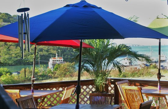 St. John Inn: View from the deck