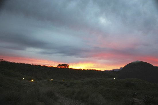 Gondwana Game Reserve:                   A fantastic sunset as seen from the bar