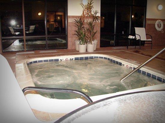 Hampton Inn Meadville:                   hot tub in the pool area