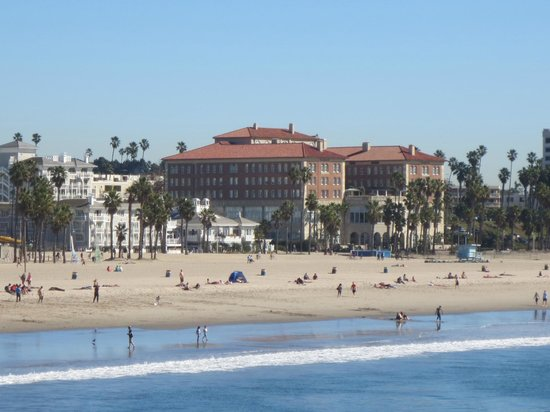 Casa del Mar: View of the hotel from the Pier