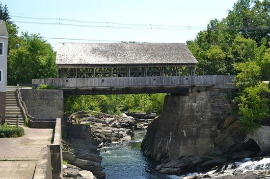 Simon Pearce Mill:                   Covered Bridge (view from Simon Pearce Restaurant)