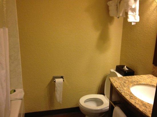 La Quinta Inn & Suites Cocoa Beach Oceanfront :                   Bathroom