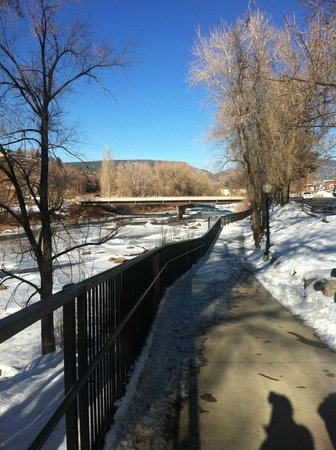 Animas River Trail: Icy Sidewalk