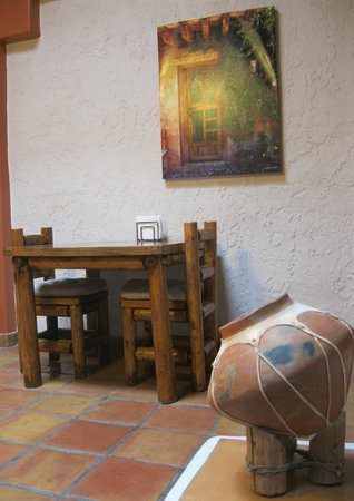 Breakfast area of the Adobe Rose Bed & Breakfast