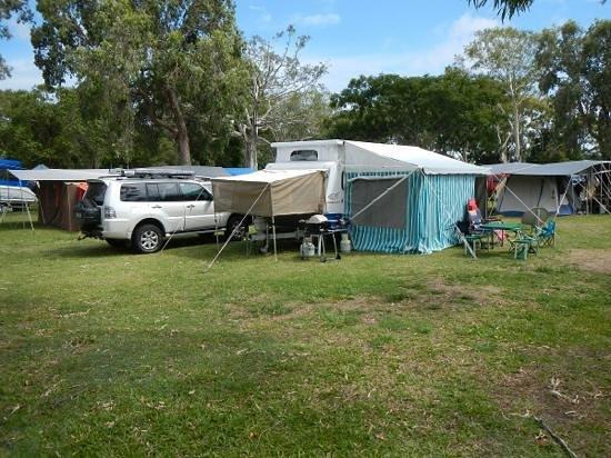 Bargara Beach Caravan Park: Our camp 