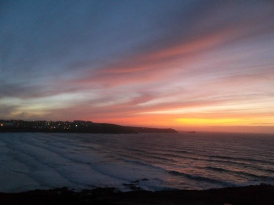 The Headland Hotel & Spa - Newquay:                   Sunset from the lounge