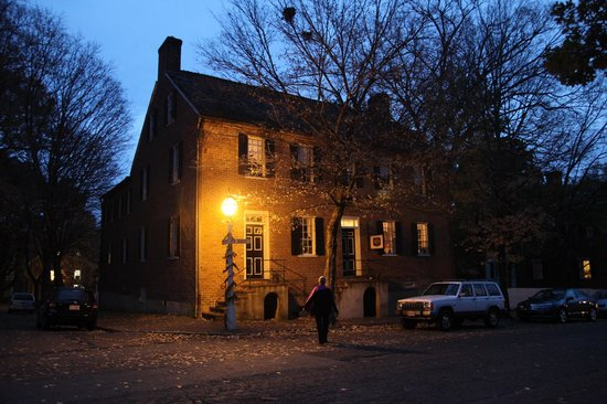 Augustus T. Zevely Inn:                   View of the Inn early evening in November, 2012