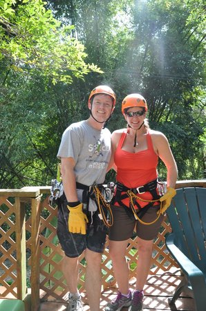 Rain Forest Zipline Corp.:                   All geared up and ready to go...
