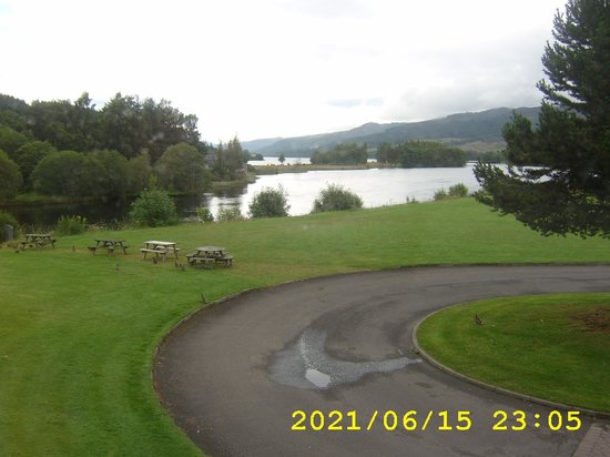 Tummel Bridge, UK:                   View of Loch from our room