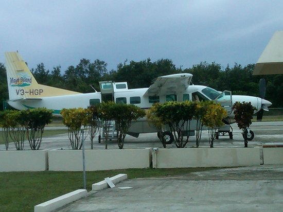 The Placencia Hotel and Residences:                   Plane from Belize City