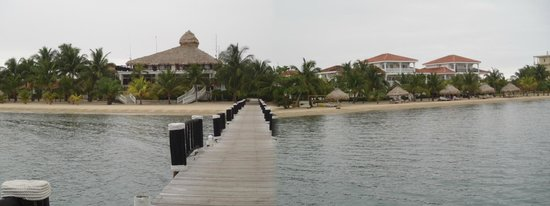 The Placencia Hotel and Residences:                   View of beach from Pier