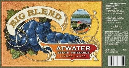 ‪‪Atwater Estate Vineyards‬: Atwater's Big Blend‬