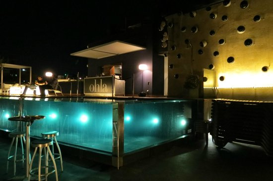 Hotel Ohla Barcelona:                   enjoyed the pool/ bar and patio in the evening too.