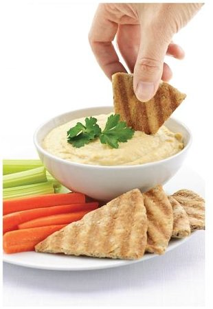 BLUE GRILL: The best homemade Hummus Dip & Pita Chips in town!