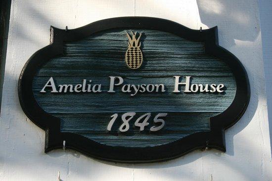 Amelia Payson House:                   House Plaque