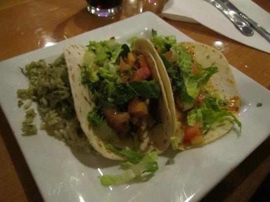 The Blue Cactus Cantina : fish tacos