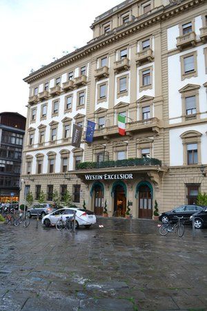 The Westin Excelsior Florence:                   front of hotel