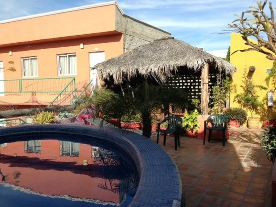 Cabo Inn Hotel:                   Rooftop Jacuzzi & Reading Room