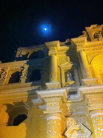 La Merced :                   Moon over La Mercred Church