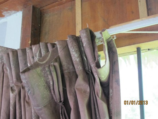 Amazon Rainforest Lodge:                   The curtains that wouldn't even close!