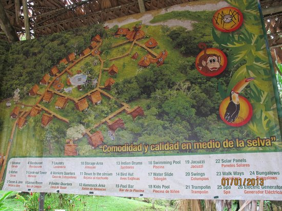 Amazon Rainforest Lodge:                   Don't believe anything you see on this map!
