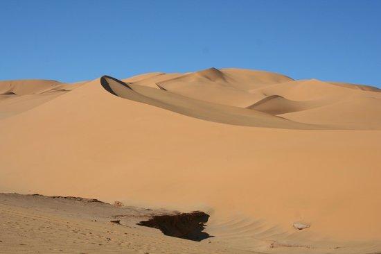 Laghouat Province, Algeria: dune di sabbia dorata  300m