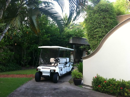 Layana Resort and Spa:                   Resort buggys, delivering luggage to room