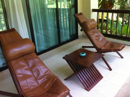 Layana Resort and Spa:                   Luxurious leather seats on the balcony