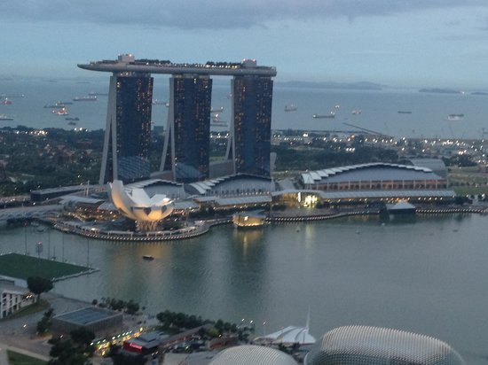 Swissotel The Stamford Singapore:                   View from Business Lounge at 63th floor