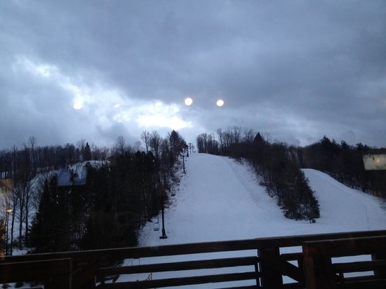 Ski Brule: Trails from the main lodge.