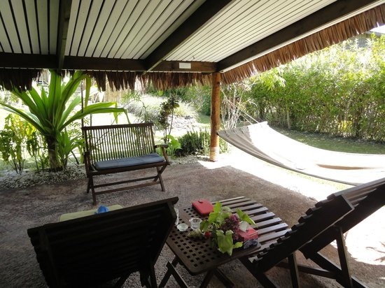 Paradise Cove Resort:                   Your very own patio with hammock