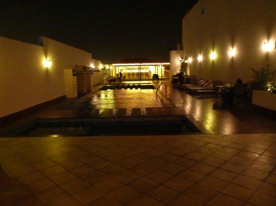 Hani Suites & Spa:                   romantic view of pool at night
