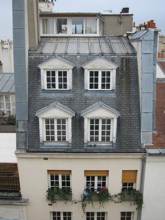 Hotel de Lutece:                   Views out over the rooftops of Paris