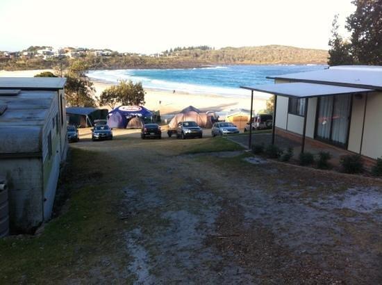 Merry Beach Caravan Resort: view overlooking merry beach