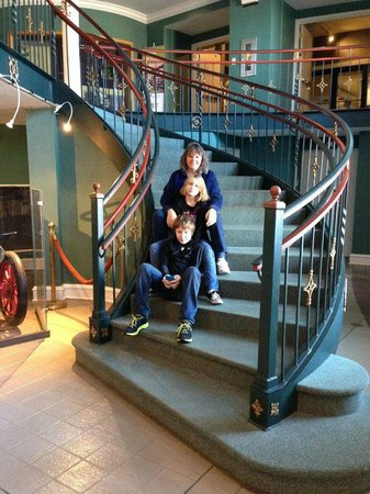 Greensboro Historical Museum: Three of us on main staircase