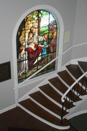 Greensboro Historical Museum : Beautiful Stain Glass Window