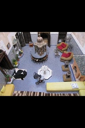 Riad Dar Elghali: looking down