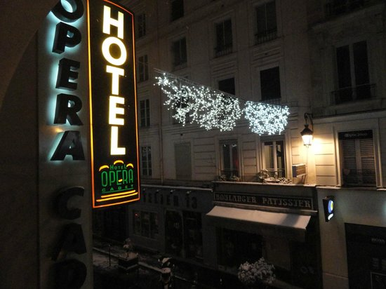 Opera Cadet Hotel: night view from room 105