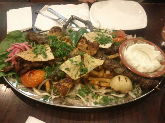 El Mayor: Platter for 2 with fries instead of rice.