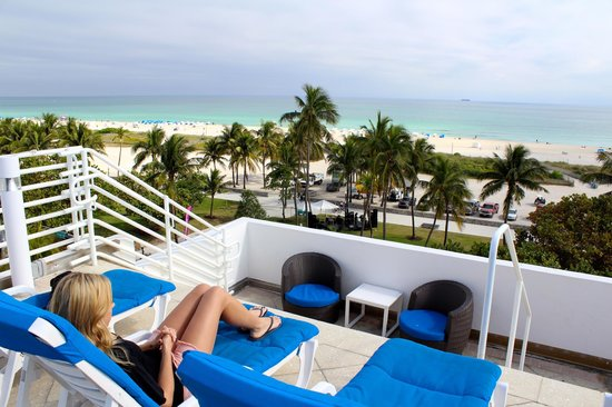 Congress Hotel South Beach:                   View from roof top pool