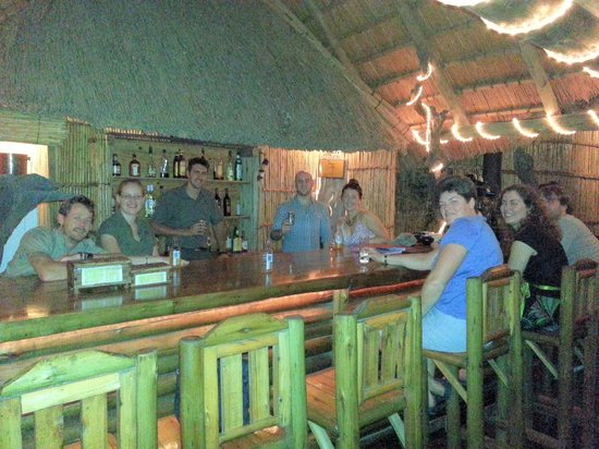 Makhasa Game Reserve and Lodge:                   Enjoying a drink at the bar