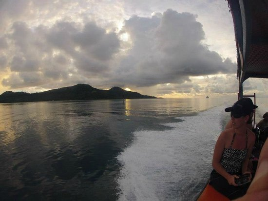 Truk Blue Lagoon Resort:                   On The Way to a Night Dive