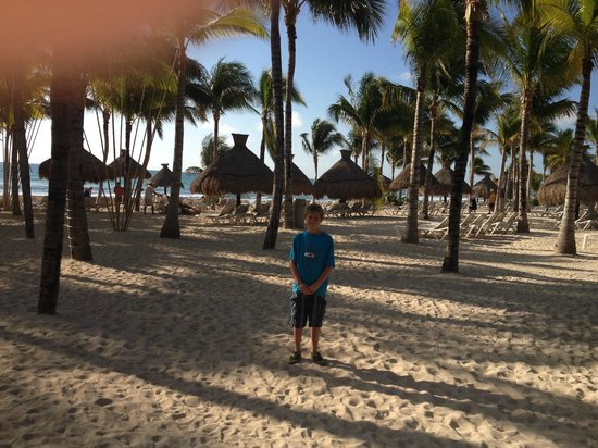 Mayan Palace Riviera Maya: on the beach for our morning walks