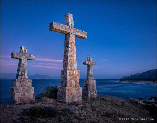 Rancho Las Cruces :                   The resort owner's father rebuilt the original wooden crosses (las cruces) out