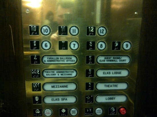 كنسنجتون بارك هوتل:                   Elevator panel                 