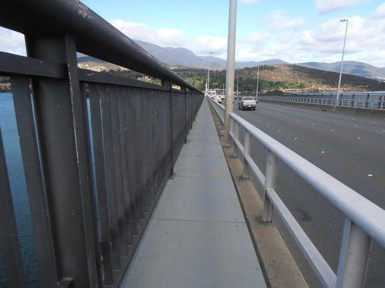 Tasman Bridge:                   Just about Half Way over the Bridge